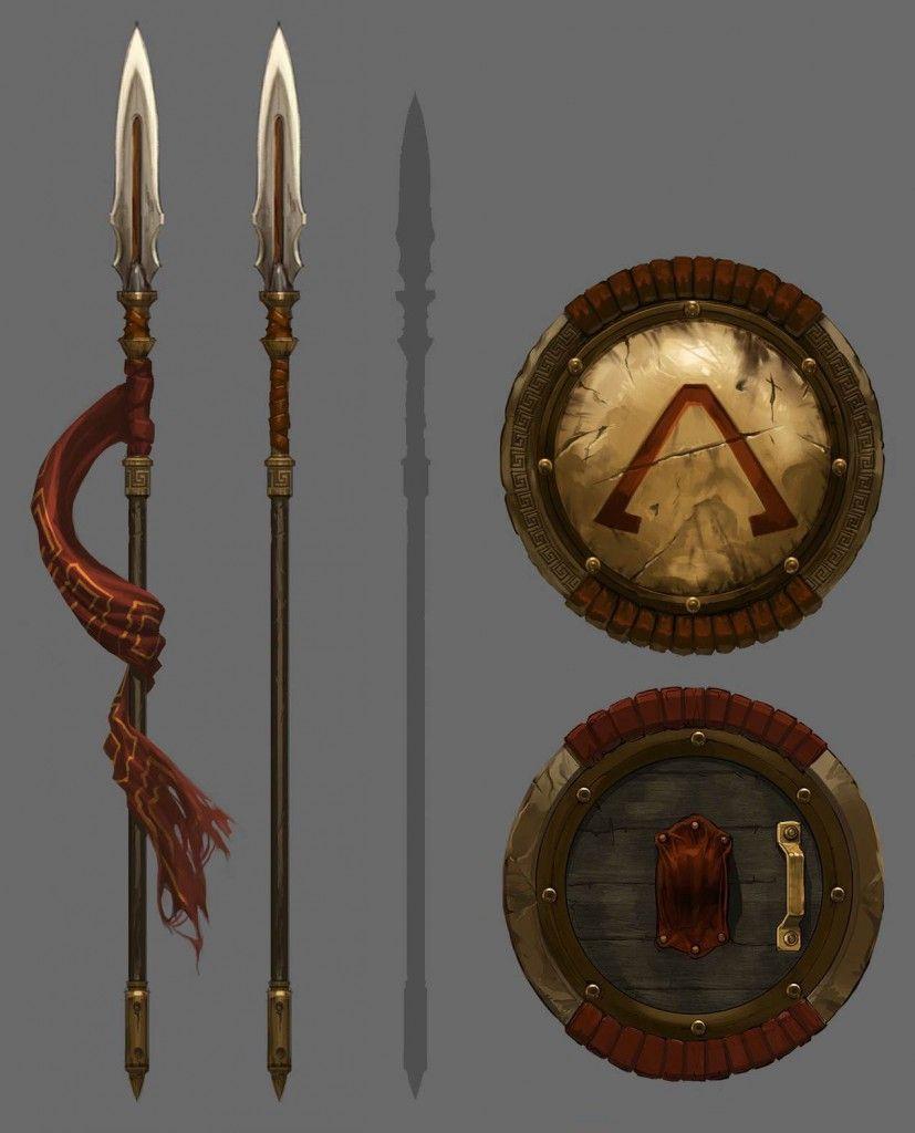 Armas de los espartanos