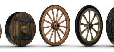 quien inventó la rueda