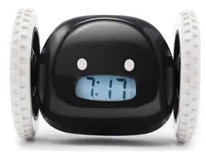 despertador con ruedas