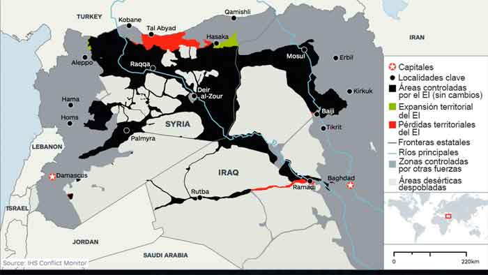 Mapa del Estado Islámico