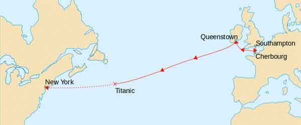 donde se hundión el titanic