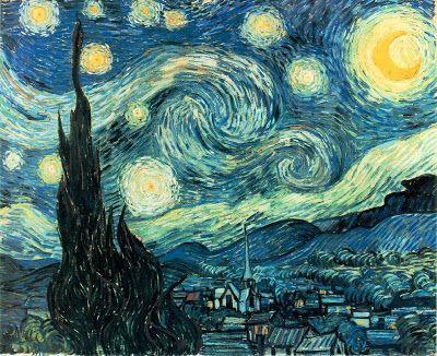 imagenes de cuadros famosos:noche estrellada de van gogh
