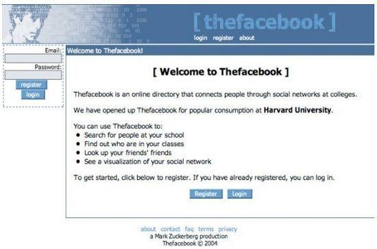 Facebook en 2004