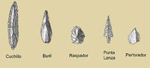 armas y piedras en el Paleolitico